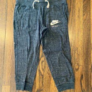 Nike Small dark gray capri cotton pants